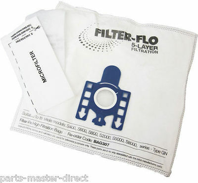 MIELE S400I S402 S456I S600 S658 S800 S858 GN BAGS AND FILTERS 5 BAGS 2 FILTERS