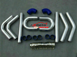 2-034-51mm-UNIVERSAL-Aluminum-TURBO-BOOST-INTERCOOLER-PIPE-PIPING-BLUE-Hose-kit