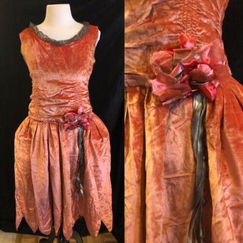 1920's Velvet Robe de Style Pannier Dress