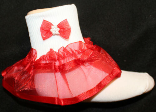 New Fancy Girls Lace Socks Flower Girl Wedding Pageant Ruffled Easter Christmas