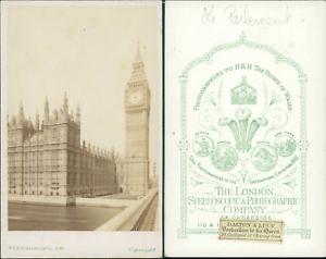 Royaume Uni Londres Palais De Westminster Vintage CDV