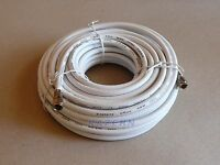 50 Ft White Rg6 Coaxial Coax Cable With Weatherproof Connectors Satellite Tv