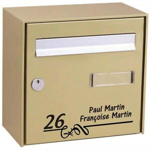 Sticker-Autocollant-Boite-aux-Lettres-Personnalise-Noms-Numero