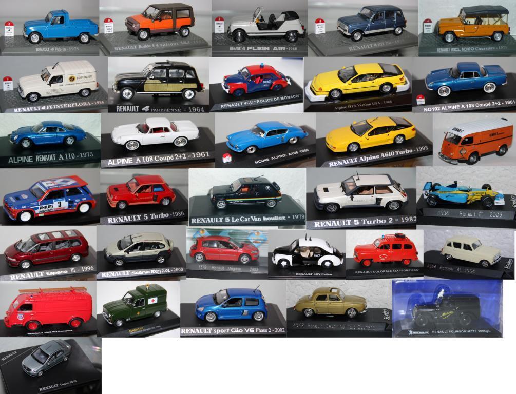 RENAULT Modelle Autos - Maßstab (1 43) - Aussuchen  Ixo,Atlas,Solido,Altaya...