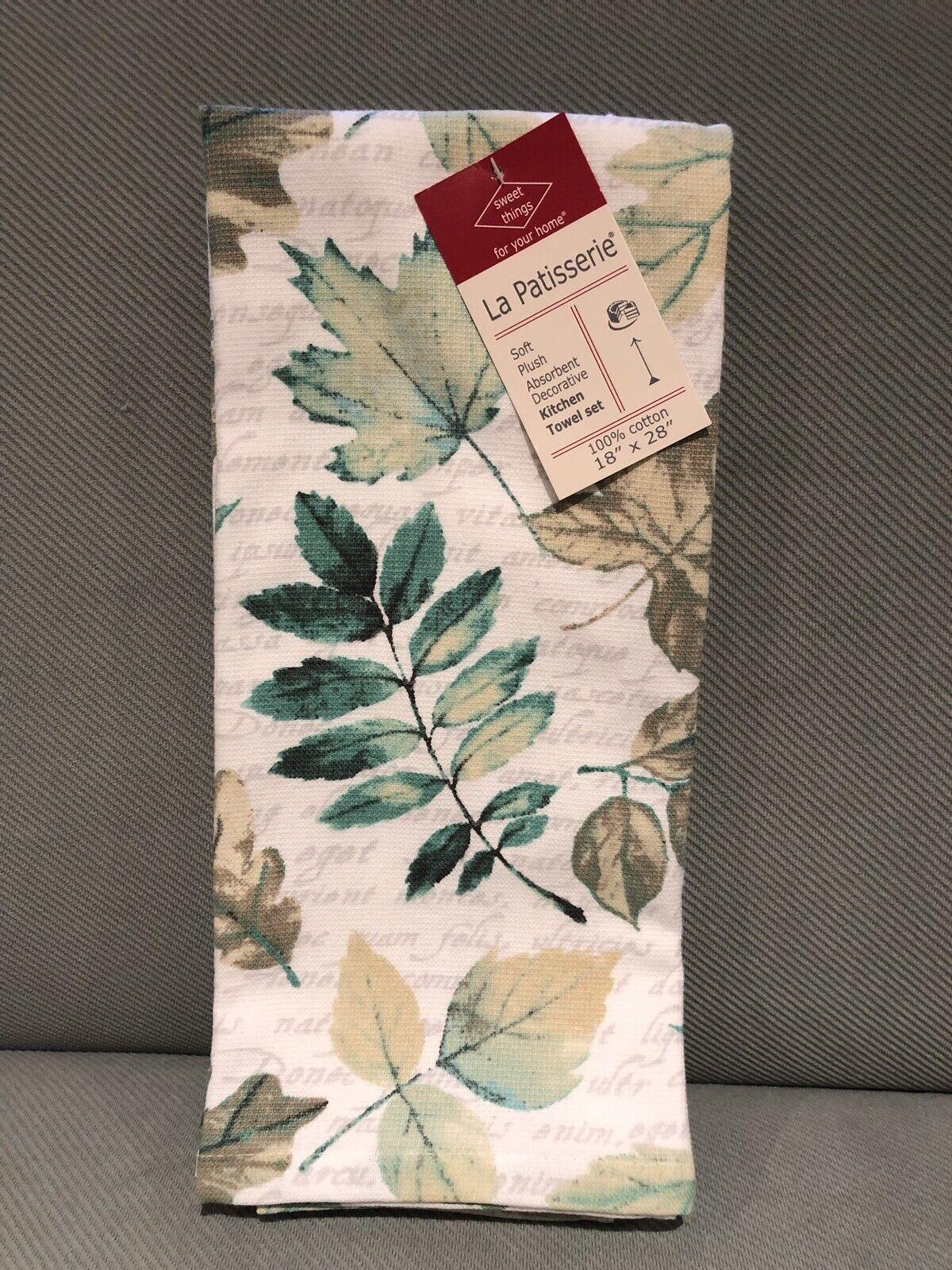 Kitchen Dish Towels Cotton Towel New Set Of 2 La Patisserie Lemon Towels Dishcloths Home Garden