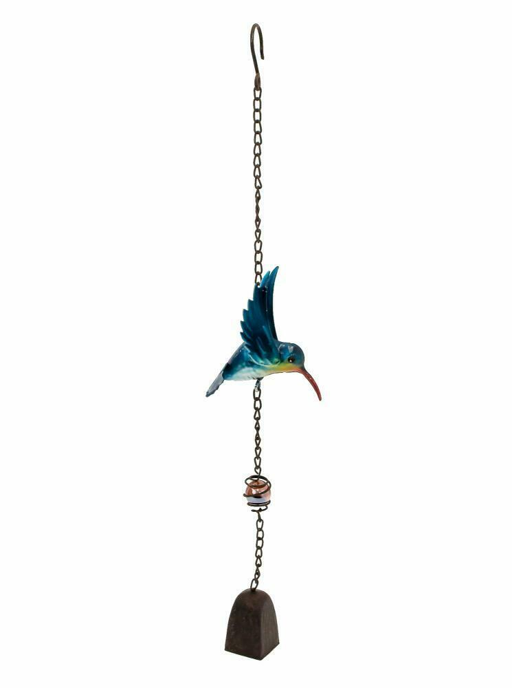 Colourful Hummingbird Hanging Garden Metal Wind Chime Bell Ornament Decoration