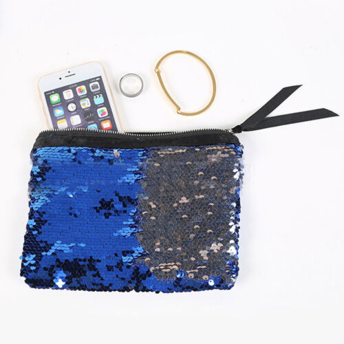 Reversible Mermaid Sequins Handbag Phone Storage Bags Makeup Case Zipper Purse