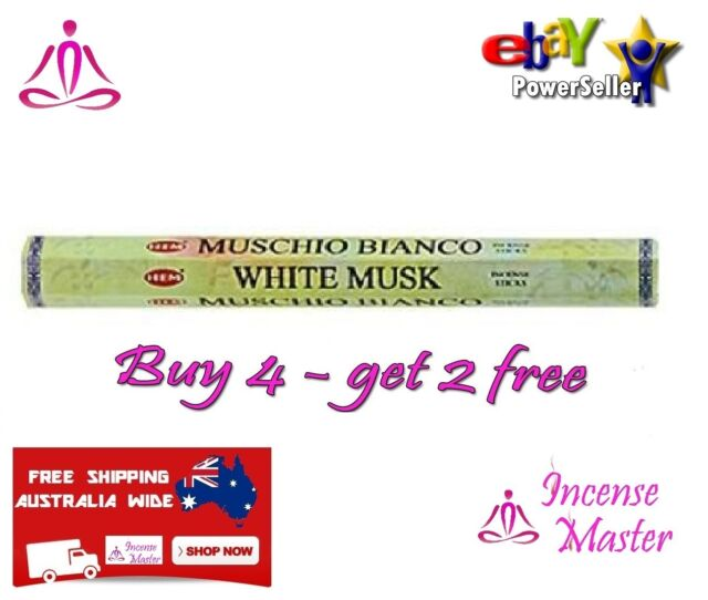 HEM WHITE MUSK Incense Aroma - HEX 20g - 20 Sticks FREE SAMPLES Incense_Master