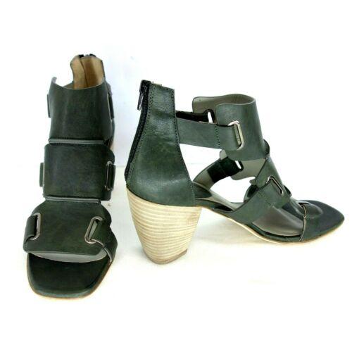 IXOS Chaussures Femmes Sandales Sandales QUEEN en cuir vert paragraphe Zipper NP 279 NEUF