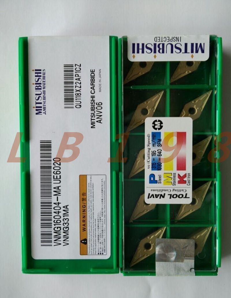 10PC NEW- Mitsubishi TNMG160404-MA UE6020 NC blade
