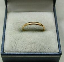 1930's Samuel Hope Plain Narrow 22ct Gold Wedding Ring