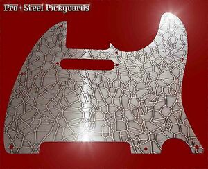 Tele Real Metal Bronzed Chrome Steel Pickguard Fender Telecaster