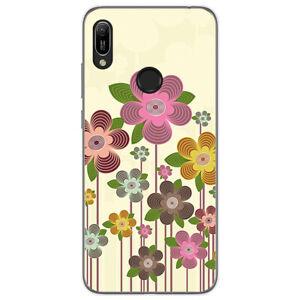 Coque-Gel-TPU-pour-Huawei-Y6-2019-Design-Printemps-en-Fleur-Dessins
