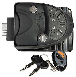 Black rv keyless entry door lock latch handle knob - Exterior door knob with deadbolt ...