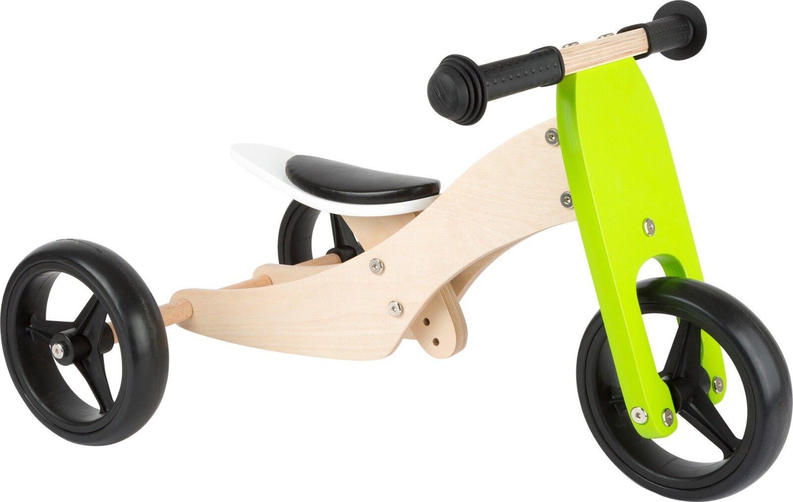 Lauflern-Dreirad Trike 2 in 1 Holz Dreirad ca.64 x 41 x 37 cm Sitzhöhe ca. 23 cm