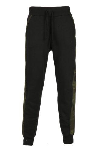Homme de base gym pantalon work out armée panneau latéral polaire poche extensible pantalon