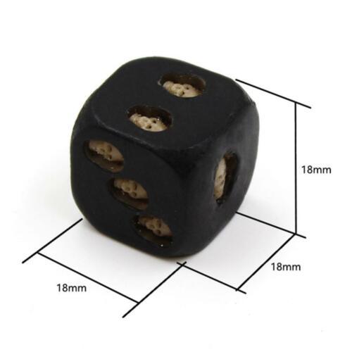 50pcs Black Resin Skull Dice 3D Skeleton Dice Vintage Bag Fillers 18x18x18mm