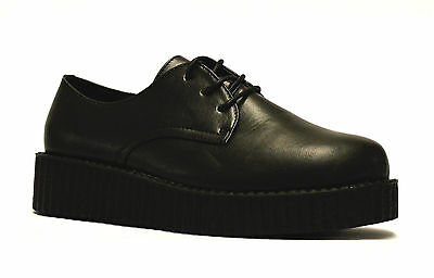 NEW LADIES CREEPER LACE UP WEDGE BROGUE SHOES GOTH SCHOOL OFFICE WORK FLAT 3/5