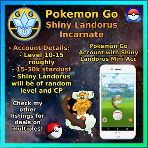 Pokemon Account Go - Shiny Landorus - PTC Mini Acc - Trade Able - Test!