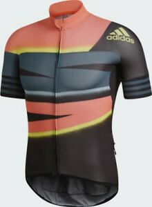 Details about $160 ADIDAS ADISTAR CYCLING JERSEY FJ6573 APP SOLAR RED/SHOCK YELLOW Mens M