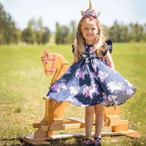 USUnicorn Infant Baby Girl Wedding Pageant Party Princess Lace Tutu Flower Dress