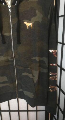 parfait à camouflage SecretCamouflage rose parfait doré Victoria's capuche rose sweat RA54jL