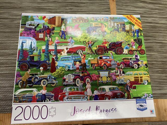 2000 Piece Jigsaw Puzzle Summer Landscape /& Antique Car Show