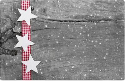 Tischsets Platzsets MOTIV Weihnachten Schnee rot 4 Stk abwaschbar 43,5x28,5 cm
