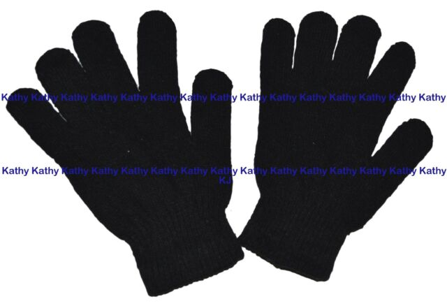 60 Pairs Black Magic Gloves Unisex Men Ladies Winter one size Wholesale Job lot