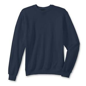 Athletech-Men-039-s-Basic-Blue-Fleece-Pullover-Sweatshirt-NWT