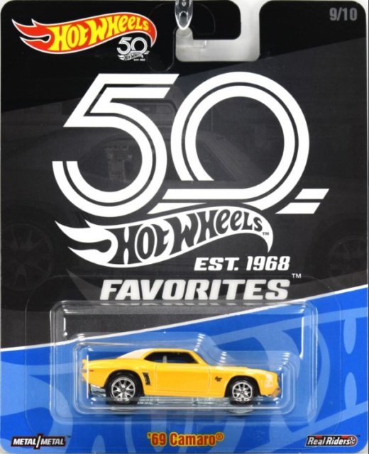 Hot Wheels Chevy Camaro 69 Yellow 50th Favorites Ebay
