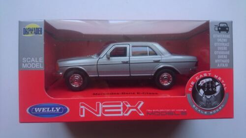 WELLY MERCEDES - BENZ W123 E-CLASS SILVER 1:34 DIE CAST METAL MODEL NEW IN BOX