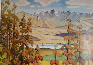 Thomas-A-McCormack-034-Lake-Tekapo-034-1963-Rare-Large-New-Zealand-Art