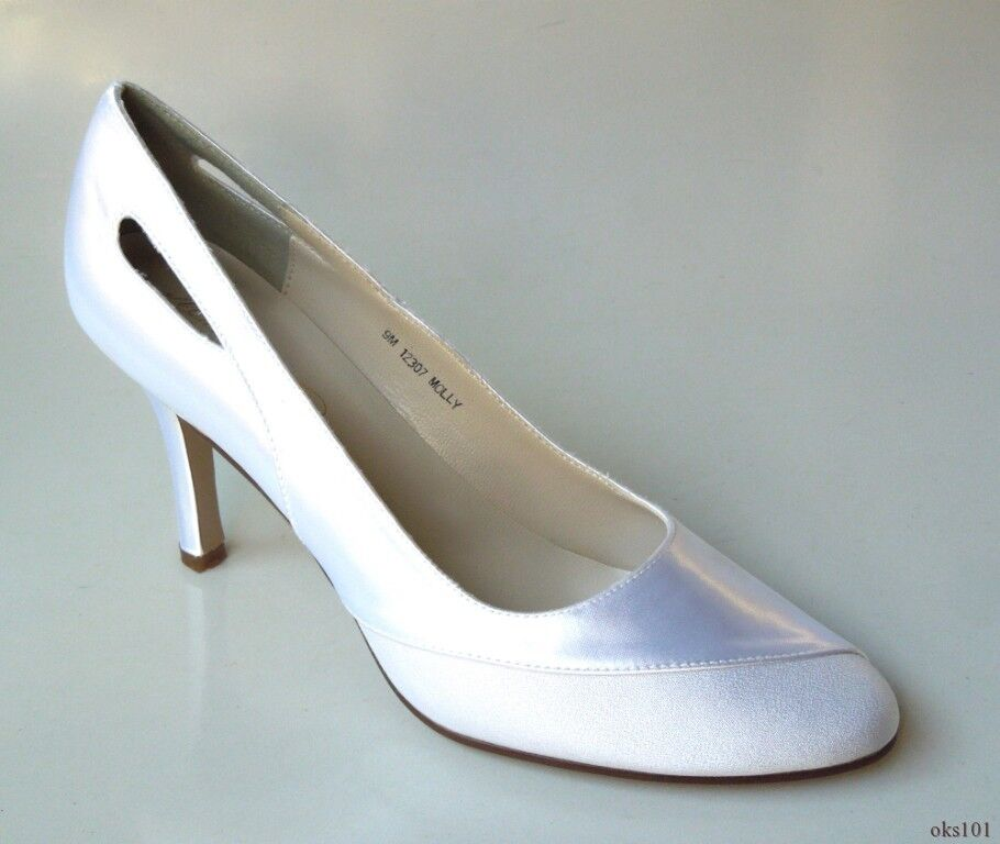 new Michaelangelo 'Molly' white satin shoes wedding bridal - classy