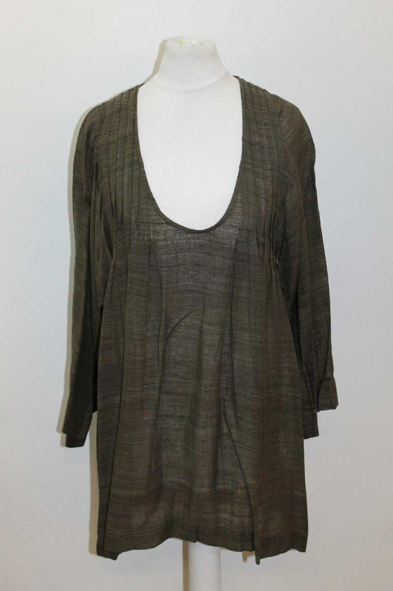ISABEL MARANT Ladies Olive Grün Silk Long Sleeve Scoop Neck Top Größe 0 XS