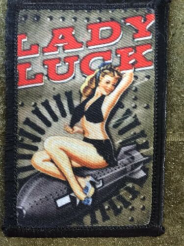 Lady Luck WWII Bomber Pin up Girl Nose Art Morale Patch Tactical Military USA