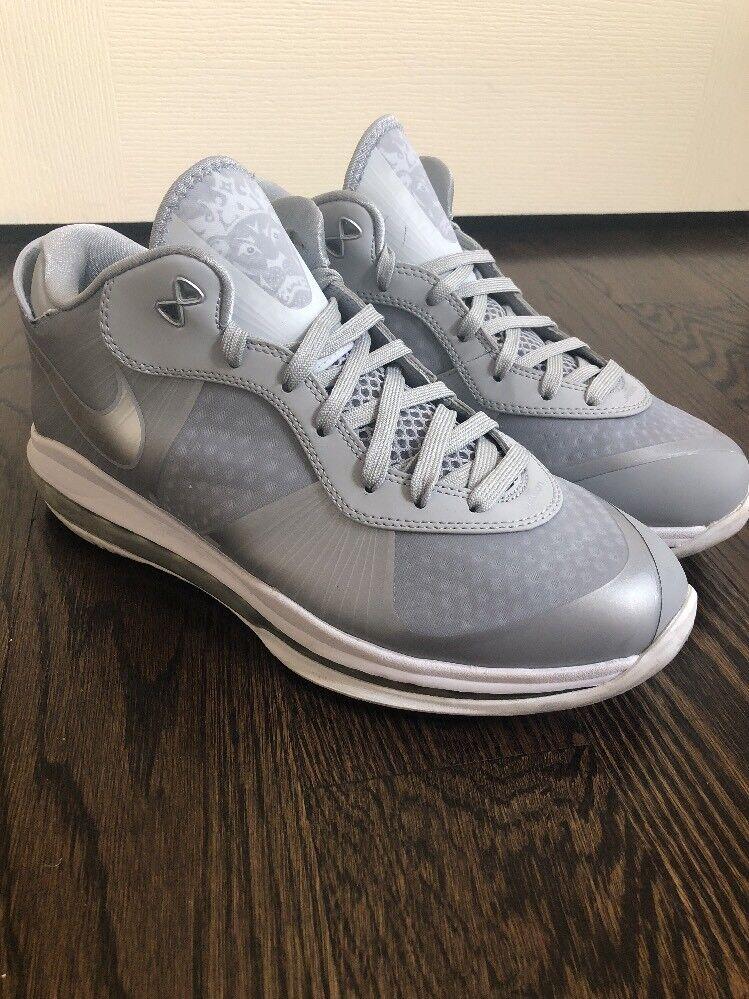 Nike Air Max LeBron 8 Viii Low Wolf Grey Rare Qs 456849-002 Great discount