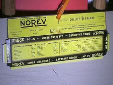 REPLIQUE SOCLE DE BOITE SIMCA CHAMBORD & CARAVANNE HENON : NOREV 1959/66
