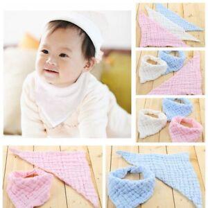 Kids-Bibs-Cotton-Gauze-Saliva-Towel-Bibs-Feeding-Bandana-Hot-Soft-Boy-Girls-JK