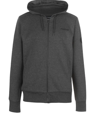 Firetrap Mens Brunel Full Zip Hoodie Hoody Hooded Top Long Sleeve Drawstring