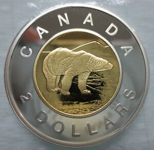 2007-CANADA-TOONIE-PROOF-SILVER-WITH-GOLD-PLATE-TWO-DOLLAR-COIN