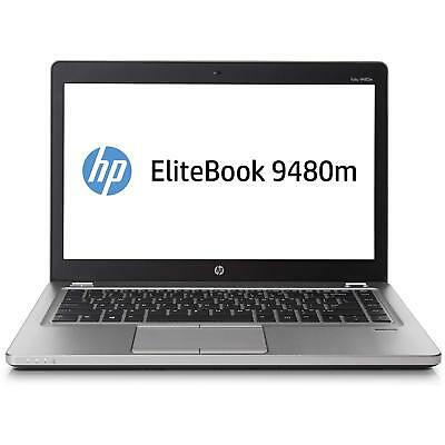 "HP EliteBook Folio 9480M 14.1"" i5-4310U 2.0GHz 4GB 180GB SSD Windows 10 Pro"
