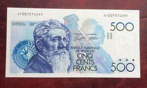 Belgique-Superbe-billet-de-500-Francs-Meunier-1989-92