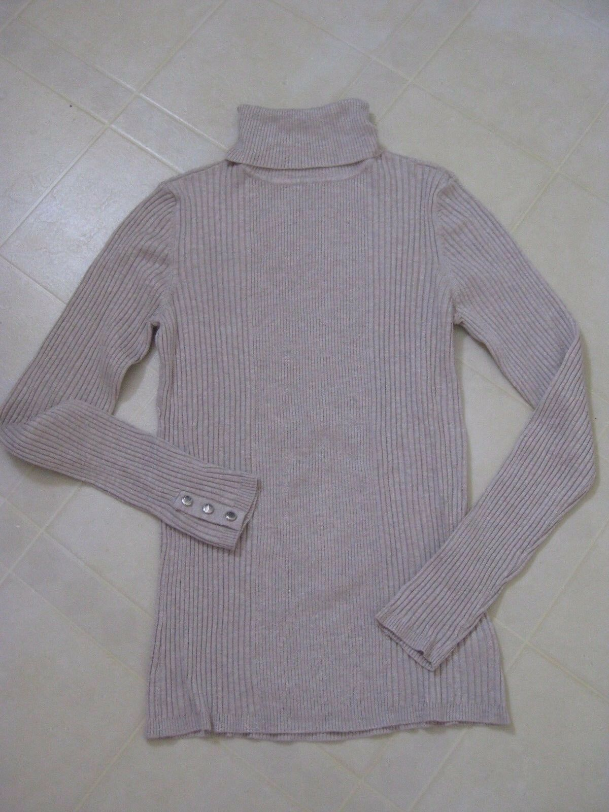 Style & Co. Long Sleeve Top   Sweater with Stud Detail at Sleeve Ends   S   New