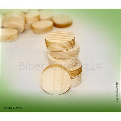 Querholzplättchen Lärche Fichte Konus-Plattl Holz-Stöpsel rund 15 20 25 30 35 50