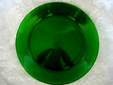"""Collectible Emerald / Kelly Green Rimmed 10"""" Plate - MORE AVAILABLE"""