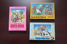 Famicom FC Super Mario Bros 1 USA 3 I III Boxed Japan game US Seller