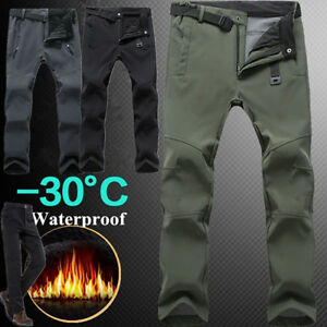 Fashion-Women-Men-Trekking-Fleece-Climbing-Long-Pants-Fishing-Hiking-Warm-WTUS