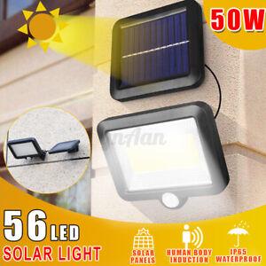 2200mAh-50W-LED-Lampione-Stradale-Faro-Pannello-Solare-Sensore-Luce-Telecomando