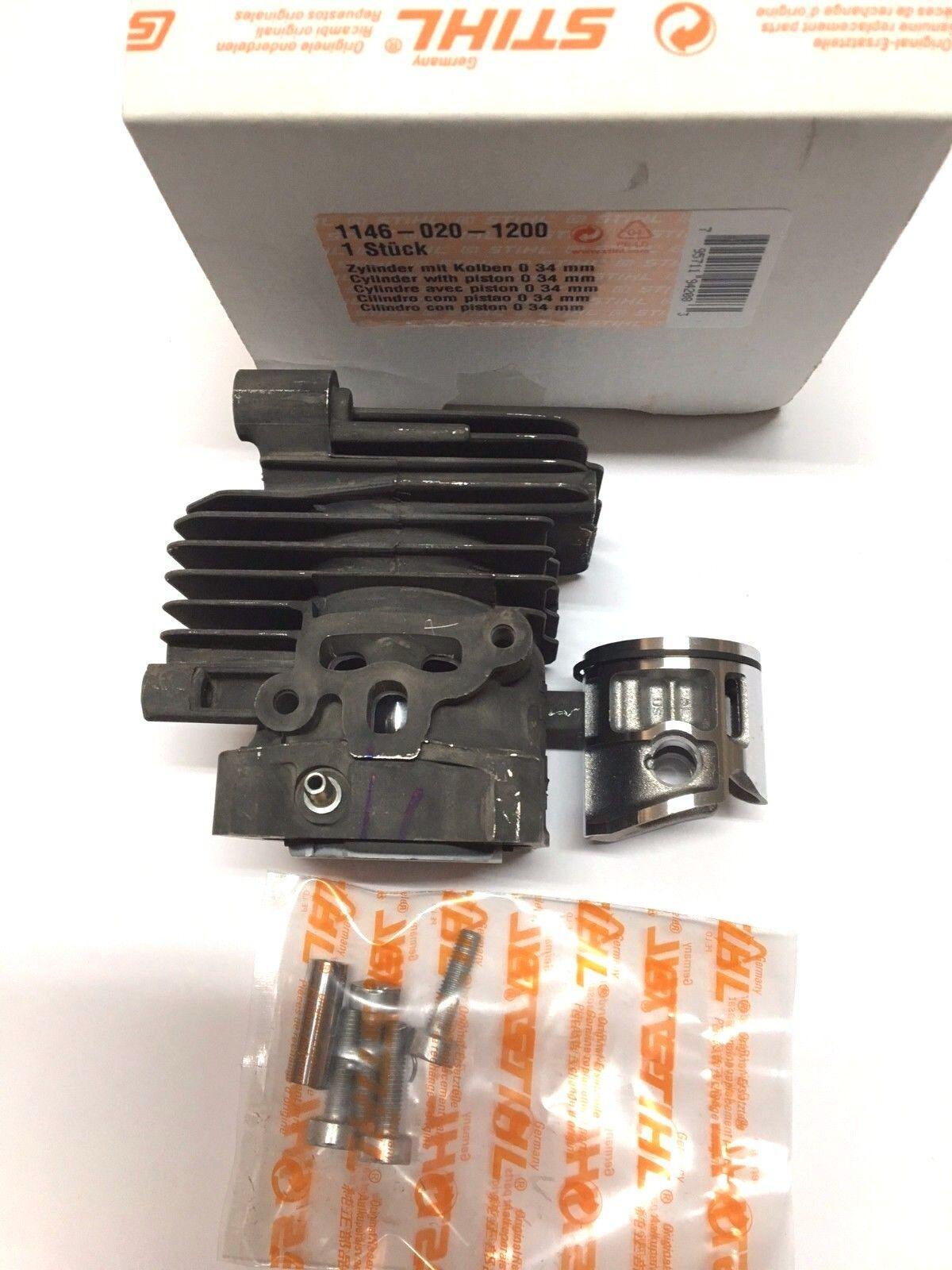 Cilindro e pistone motosega Stihl MS 150T d.34 gruppo termico completo ORIGINALE